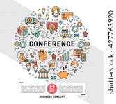 vector business conference... | Shutterstock .eps vector #427763920