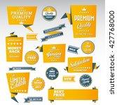 vintage labels set   origami... | Shutterstock .eps vector #427768000