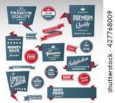 vintage labels set   origami... | Shutterstock .eps vector #427768009