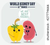 world kidney day campaign... | Shutterstock .eps vector #427774666