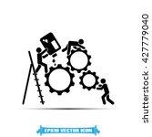 gears people icon vector... | Shutterstock .eps vector #427779040