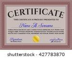 certificate template eps10 jpg... | Shutterstock .eps vector #427783870