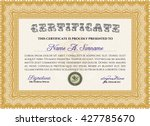 certificate template. easy to... | Shutterstock .eps vector #427785670