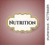 nutrition banner | Shutterstock .eps vector #427786684