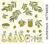 Hand Drawn Olive Graphic Set....