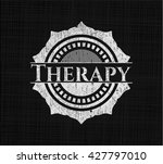 therapy chalk emblem  retro... | Shutterstock .eps vector #427797010