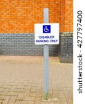 Disabled Parking Space Sign...