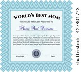 best mom award template. with... | Shutterstock .eps vector #427801723