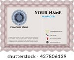 business card  retro style.... | Shutterstock .eps vector #427806139