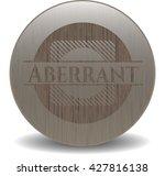 aberrant retro style wood emblem