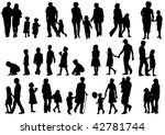 drawing of parents with... | Shutterstock . vector #42781744