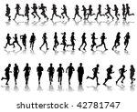 drawing running athletes.... | Shutterstock . vector #42781747