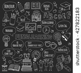 language school doodle icons on ... | Shutterstock .eps vector #427822183