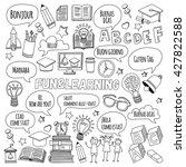language school doodle vector... | Shutterstock .eps vector #427822588