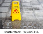 Caution Sign Wet Floor