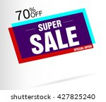 super sale banner vector and... | Shutterstock .eps vector #427825240