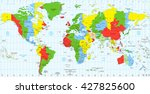 detailed world map standard... | Shutterstock .eps vector #427825600