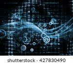 symbol glow series. artistic... | Shutterstock . vector #427830490