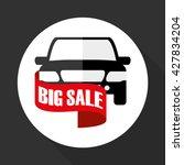 car sale design. sale concept....   Shutterstock .eps vector #427834204