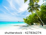 beautiful tropical maldives... | Shutterstock . vector #427836274