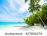beautiful tropical maldives... | Shutterstock . vector #427836274