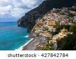 positano on the amalfi coast ...   Shutterstock . vector #427842784