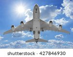Bottom View Airplane Takeoff T...