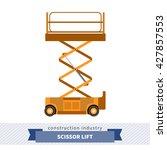 aerial man scissor lift crane.... | Shutterstock .eps vector #427857553