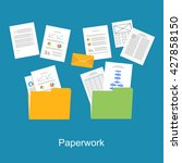 paperwork  documents icon. | Shutterstock .eps vector #427858150