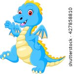 Cute Blue Dragon