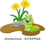 Illustration Of A Flower With...