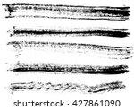 hand drawn paint grunge brush...   Shutterstock . vector #427861090