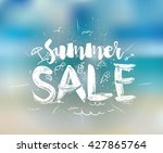 Summer Sale. Drawn Lettering....
