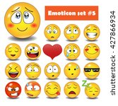vector emotional face icons | Shutterstock .eps vector #427866934