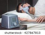 Asian Man With Sleep Apnea...
