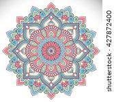 flower mandalas. vintage... | Shutterstock .eps vector #427872400