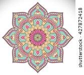 flower mandalas. vintage... | Shutterstock .eps vector #427872418