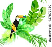 tropical  exotic seamless... | Shutterstock .eps vector #427873780