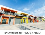 modern commercial building on a ... | Shutterstock . vector #427877830