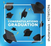 graduation poster. throwing... | Shutterstock .eps vector #427895296