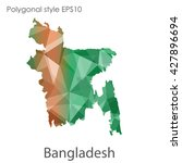 bangladesh map in geometric... | Shutterstock .eps vector #427896694
