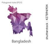 bangladesh map in geometric...   Shutterstock .eps vector #427896904