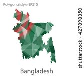 bangladesh map in geometric... | Shutterstock .eps vector #427898350