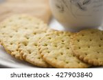 a crispbread with high content... | Shutterstock . vector #427903840