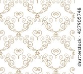 hand drawn seamless pattern in... | Shutterstock . vector #427905748