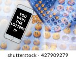 you won the lottery words ... | Shutterstock . vector #427909279