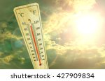 Thermometer With Sunny Sky.hig...