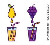 fresh juice. icon set  natural... | Shutterstock .eps vector #427912120
