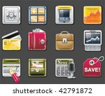 vector universal square icons.... | Shutterstock .eps vector #42791872