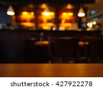 blur table top with night club... | Shutterstock . vector #427922278